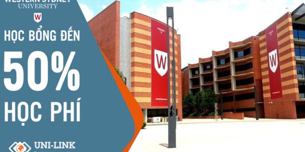 Học bổng 50% học phí cho kỳ nhập học tháng 11/2021 tại Đại học Western Sydney, Úc